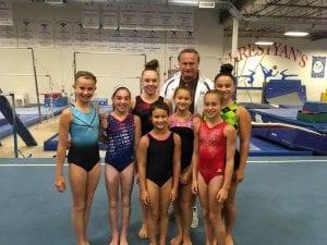 dyamic gymnastics team