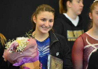 student winning an award