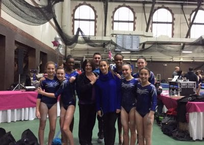 teodora at gymnastics meet with students