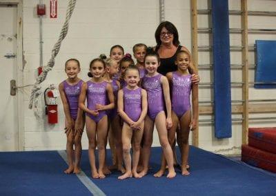 teodora with gymnastics girls team